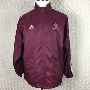 Adidas OU Track & Field Red Windbreaker Jacket M